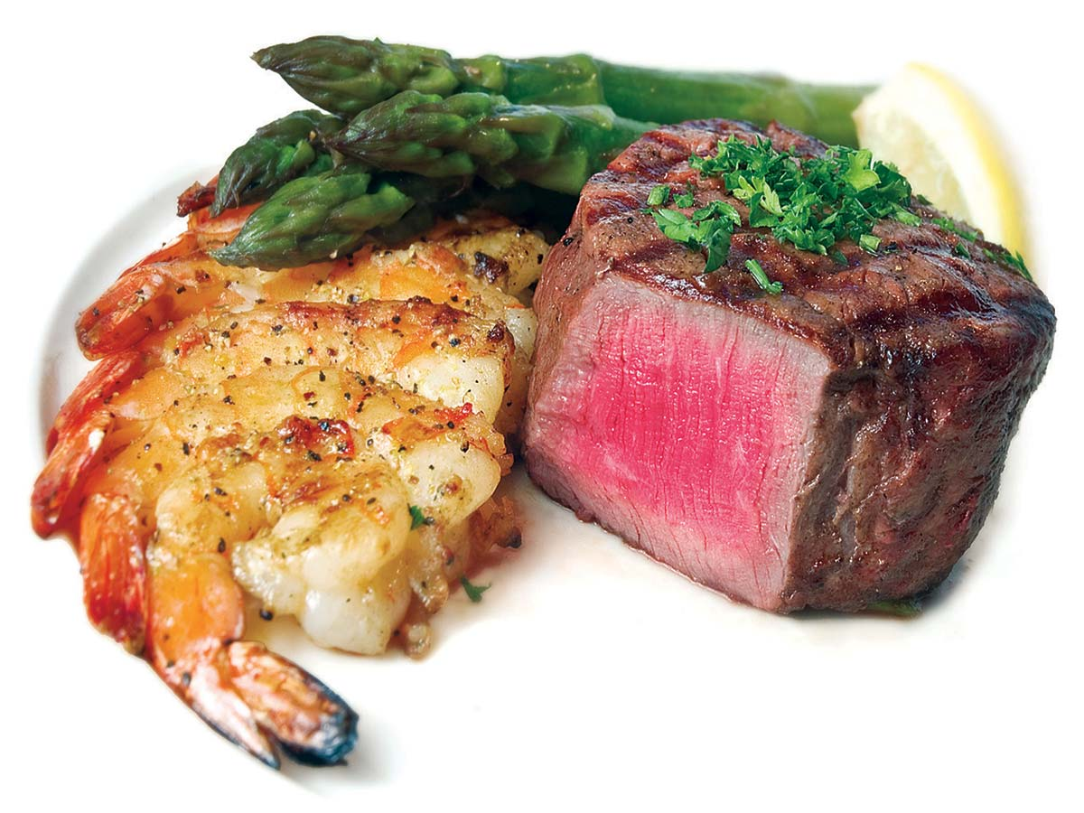 Filet with Grilled Shrimp