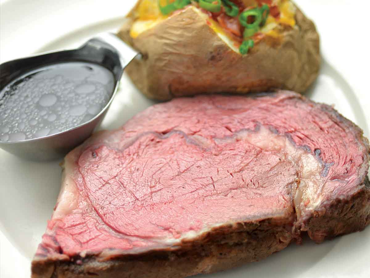 Slow-roasted Prime Rib